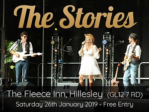 Gig poster - The Fleece Inn, Hillesley, January 2019. Photo by Kate Griffin.